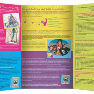 Registration Brochure // FrogDog developed this colorful English-Spanish direct-mail brochure to encourage girls and their parents to sign up for another year of Girl Scouting.