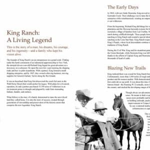 Brochure // FrogDog used the standards it defined in the King Ranch branding guide to update the company's corporate brochure. This attractive piece educates those interested in this legendary enterprise—including potential business partners—about its history and current operations.