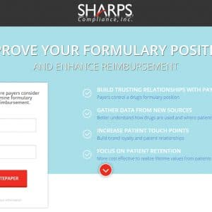 Landing Page // Print and digital ads directed targets to a dedicated landing page. Once on the page, visitors could learn more about the Sharps Patient Support System and were prompted to download a white paper by entering their contact information. Once they downloaded the white paper, prospects were entered into a marketing automation system so that they could receive additional thought leadership pieces.